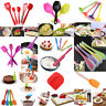 Kitchen Silicone Cake Baking Mixing Spatula Scraper & Brush Cooking Utensil Set