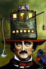 LEAH SAULNIER ~ EDGAR ALLEN POE 24x36 ART POSTER Raven House Usher Rue Morgue