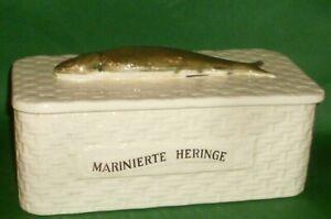Alte Fischdose Marinerte Heringe Fischtopf Deckeltopf Dose Heringstopf Korbdose