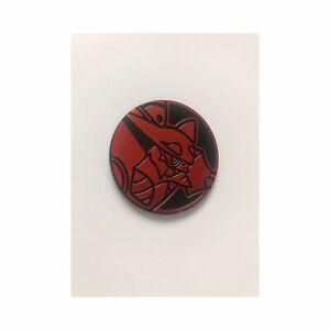 Black and Vermillion Red Volcanion Coin   Mint   Mirror Holofoil   Pokémon TCG