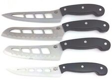 Mad Hungry 4 Piece BLACK Air Blade Knife Set Santoku, Bread, Slicer NEW NO BOX