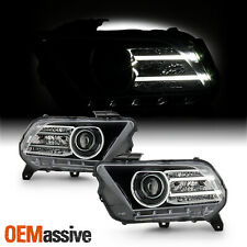 For 2010 2014 Ford Mustang Halogen Type Led Tube Projector Black Headlights Fits Mustang