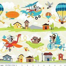 Kinderstoff Flieger Patchworkstoffe Stoffe Patchwork Vorhangstoffe Kinder Tiere