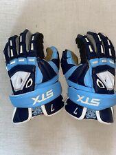 Stx Unc Game Worn Lacrosse Gloves Sz 13