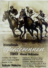 Original Plakat - Internat. Pferderennen Zürich - Allmend Wollishofen