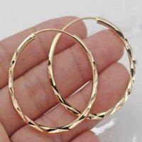 2020 Fashion 18k Gold Plated Hoop Earrings Ear Ring Dangle Women Jewellery Gifts