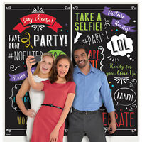 Words Wall Selfie Backdrop Party Birthday Decoration Scene Setter Photo Booth