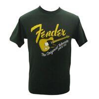Genuine Fender Original Tele/Telecaster Guitar Men's Tee T-Shirt - GREEN - XXL