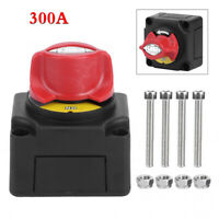 1x 300A DC 12/24V Car Marine Boat ATV Battery Isolater Disconnect Cut-off Switch