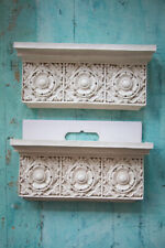 Set/2 Decorative French Shelves Shelf White Resin Kari Walmsley Dayton Hudson Co