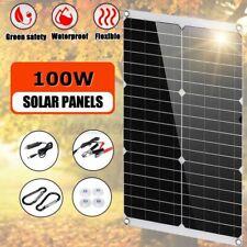 100W Solar Panel 100 Watt Module Monocrystalline 12V Camping RV Marine US KJD