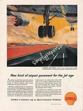 1959 Shell Oil United Air Lines Airport Pavement for the Jet Age Art Print Ad