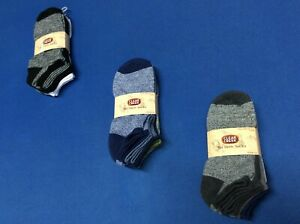 Men's  no show socks  (Clear Creek), shoe size 6-12,  in various colors, 6 pairs