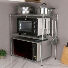 Küchenregal Mikrowellenhalter Metallregal 2 Ablage schrank Gewürzregal mit Haken