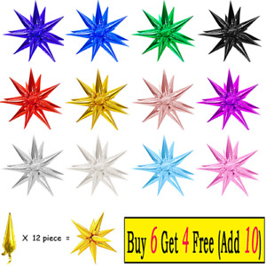 12pcs/set Explosion Star Balloon for Wedding Party Ceremony Xmas Home Decoration
