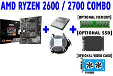 AMD RYZEN 5 7 2600 2700 CPU+MSI A320M-A PRO MAX M.2 USB3.2 Motherboard+SSD COMBO
