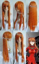 EVANGELION ASUKA ORANGE straight cosplay wig +wig cap 80cm  H260