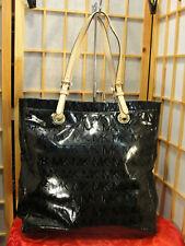 MICHAEL KORS Plack Patent Leather Logo Embossed Shoulder DEFECTS