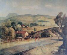 Lloyd Rees, The Road to the Mountain, Rare Australian Art Print.