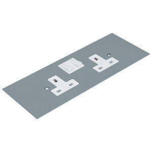 UP351 Series 507 UP351 Twin DP/TE Switched Socket 13A 2 Gang for 3 Comp Floor Bo