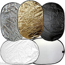 """40""""x60"""" 5-in-1 Collapsible Multi Photo Light Reflector Kit for Photography Video"""