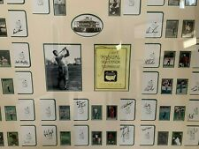 Rare MASTERS SCORECARDS Autographed by Champions from Inaugural thru 2001