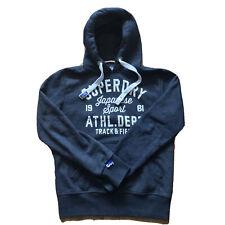 Superdry Track & Field Mens Grey Hoodie Hooded Sweatshirts Size M