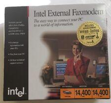 Intel 144/144e PCFM7600 External Fax Modem 14,400bps Sealed Rare
