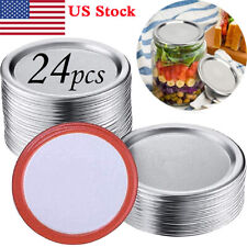 24Pcs Wide Mouth Mason Jar Canning Lids 86mm Food Grade Material Split-Type Lids