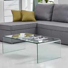 Tempered Glass Coffee Table Accent End/Side/Cocktail Table Living Room Table