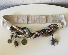 Womens Woven Belt Braided Adjustable Belly Dancer Chain Makes Noise