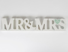 Sass & Belle Mr & Mrs White Wood Letters Sign Wedding Table Decoration  Gift