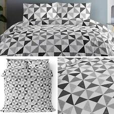Grey Duvet Covers Geometric Triangles Modern Printed Quilt Cover Bedding Sets