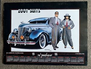 Original Rare El Pachuco Lowrider Poster 24x18 Zoot Suit 1996 By Julian Mendoza