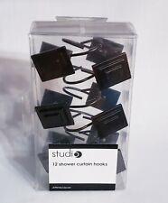 Jcp Home Studio Set Of 12 Shower Curtain Hooks Metal Brown Modern