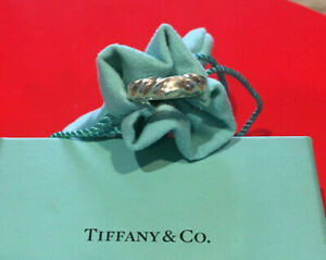 Tiffany & Co. .925 Silver Sterling Twist Ring 1996 Size 4.5 worn once-Box & Bag