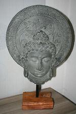 Buddha Staturen Skulpturen Stein-Guss ca 72 cm hoch asiatische Wohn-Accessoires