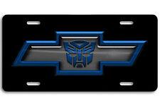 Chevy Chevrolet Bowtie Transformers Autobot Aluminum Car License Plate blue