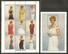 Togo #1798/1804, 1997 Princess Diana - Designer Gowns, 2 Different Sheets NH