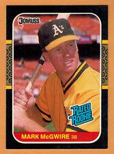 1987 , DONRUSS-LEAF , MARK McGWIRE , CARD #46 , ROOKIE