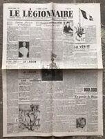 N1 Journal Le Légionnaire Du 1 Er Mai 1941