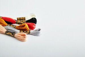 DMC Stranded Cotton Mouline Cross Stitch Thread Colours White, B5200 and Ecru