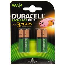 4x Duracell Plus Batería Recargable 750mAh triple A AAA Baterías 81364750