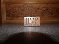 Antique McNall Letterpress Printers Block Copper on Wood