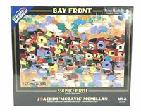 White Mountain Puzzle Bay Front Collage 550 Piece Jigsaw NEW