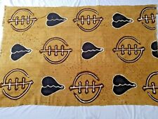 "Authentic African Handwoven Bambara Mud Cloth Fabric From Mali Size 61"" x 40"""