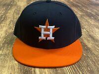 Houston Astros Blue/Orange MLB Baseball Hat - New Era - Size 7 1/4