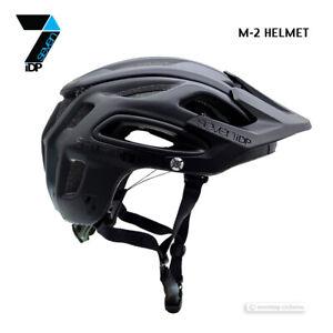 Neu 7iDP M-2 MTB Mountainbike Helm: Mattschwarz / Glanz Schwarz