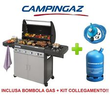 BARBECUE GAS CAMPINGAZ 4 SERIES CLASSIC LS PLUS + BOMBOLA A GAS E KIT REGOLATORE