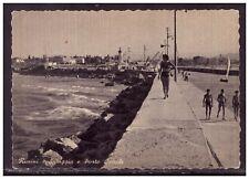 Cartolina Spiaggia e Porto Canale Rimini Animata HH203
